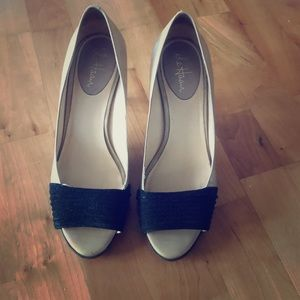 Cole Haan Nike Air Suede and Patent Leather Heels